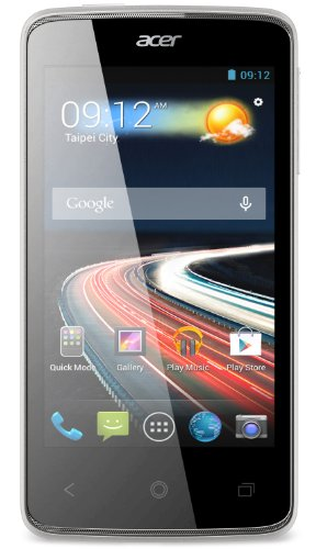 Acer Liquid Z4 Smartphone, Display 4 Pollici, Dual-SIM, Fotocamera 5 Megapixel, Processore Dual-Core 1,3GHz, Android 4.2, Bianco [Germania]