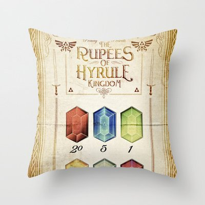 New Arrival 16*16 inches throw pillow caseLegend Of Zelda - Tingle's The Rupees Of Hyrule Ki Throw Pillow