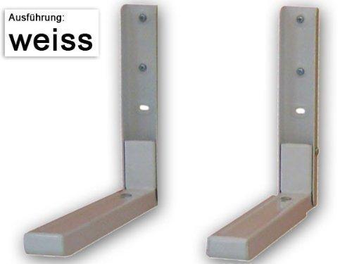 ABLAGE für BLURAY- DVD-PLAYER SATELLITEN RECEIVER MIKROWELLE HIFI ANLAGE KONSOLE (passt für SAMSUNG PHILIPS SONY LG PANASONIC GRUNDIG ACER THOMSON TELEFUNKEN BLAUPUNKT TOSHIBA - LED LCD TFT Plasma Full-HD 3D Fernseher) - WEIß - Halter Wandhalterung Halterung Wandhalter - Modell: H73W