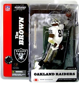 Tim Brown Oakland Raiders Variant White top McFarlane NFL by Unknown