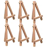 "Art Alternatives 5"" Mini Wood Display Easel Natural (6-Pack)"