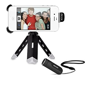 Dexim DVA006-B ClickStik Bluetooth Remote + Camera Stand for iPhone and iPod Touch (Black)