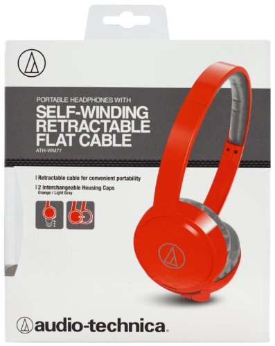 Audio Technica ATH-WM77 On ear Headphones (Orange)
