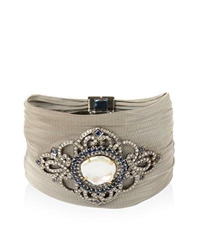 Socheec Pearl, Diamond & Sapphire Fine Mesh Bracelet