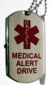 Medical Alert USB Flash Drive Metal Dog Tag from Medical Alert Drives