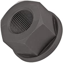"Carbon Steel Hex Nut, Black Oxide Finish, Grade 2, Right Hand Threads, Class 2B 1-1/4""-12 Threads, 1-3/8"" Height, Made in US"