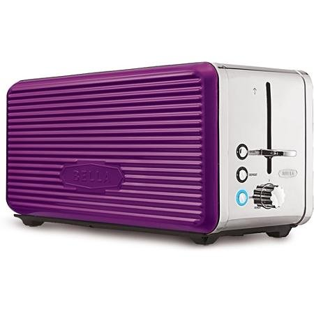 PURPLE Bella Linea Collection 4-Slice Toaster Made of Durable Metal and Features Extra-wide Slots with Self-Centering Guides and a High-Lift Lever, Anti-jam with auto shut-off, Metallic Painted Side Panels (4 Slice Toaster Color compare prices)