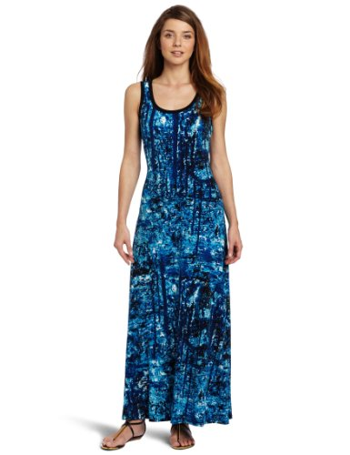 Calvin Klein Women S Printed Maxi Dress Wadulifashions