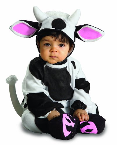 Rubie's Costume Cozy Cow, Black/White, 0-6 Months