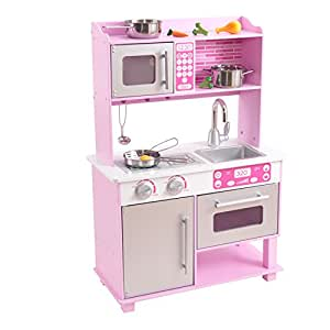 Amazon.com: KidKraft Girl's Pink Toddler Kitchen with