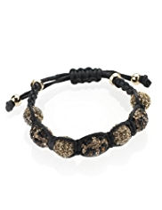 M&S Collection Pave Ball & Bobble Bead Bracelet