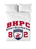 Beverly Hills Polo Club Juego De Funda Nórdica Logo (Blanco)