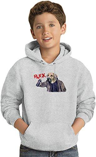 Fuck System Felpa leggera con Cappuccio per Bambini Lightweight Hoodie For Kids | 80% Cotton-20%Polyester| 14-15 yrs