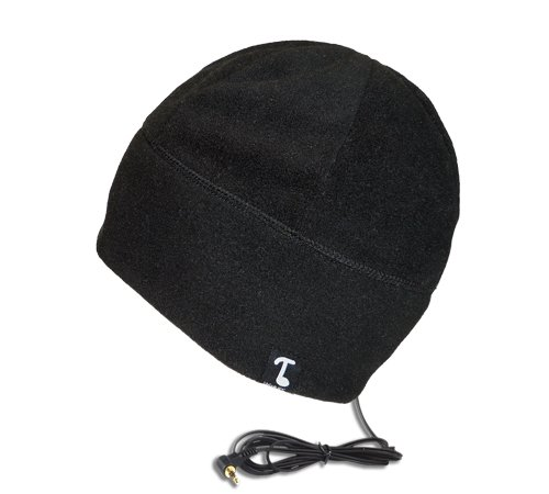 Tooks Polarcap Fleece Headphone Beanie With Built-In Removable Headphones - Color: Black