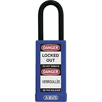 Abus 74LB/40 KA Blue, 74 Series Non-Conductive Safety Padlock (Pack of