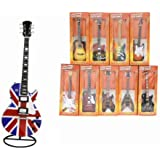 "Classic Guitars 9.5"" *Mini Replica Guitar with Stand* NOVELTY Gift FUN Collector"