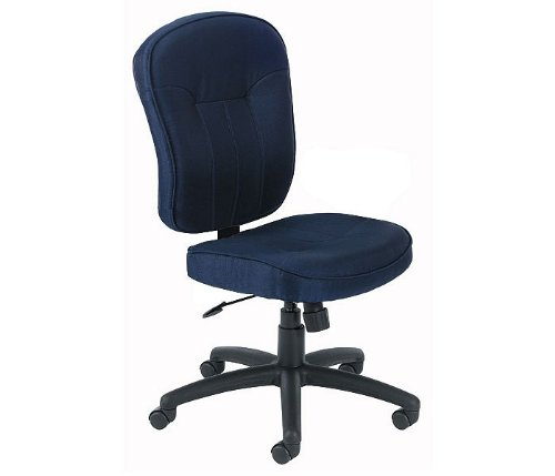 Blue Fabric Mid Back Office Task Chair