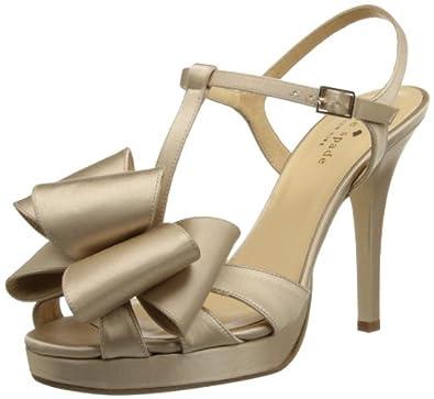 kate spade new york Women's Ribbon Platform Sandal,Champagne,6 M US