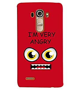 Fuson Premium I`M Angry Printed Hard Plastic Back Case Cover for LG G4