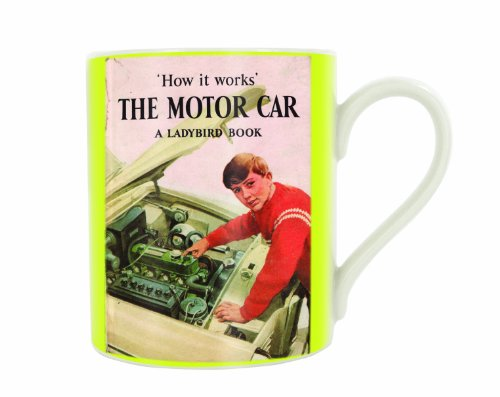 Wild and Wolf LAD019 Ladybird 0.5L Mug, The Motor Car