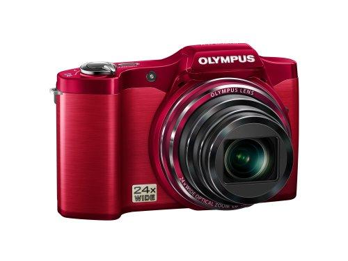 Olympus SZ-14 Red 14 Megapixel 24x Wide Angel Zoom Digital Camera (Red)