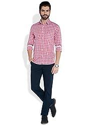 Parx Medium Red Cotton Shirt