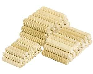 Woolcraft 2907 Lot de 150 chevilles en bois 8 x 40 mm