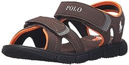 Polo Ralph Lauren Kids Brody Sport Back Sandal (Toddler/Little Kid/Big Kid), Chocolate, 6 M US Big Kid