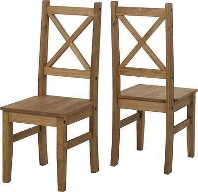 Salvador sedia per sala da pranzo in legno di pino invecchiato e cerato