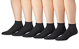 James Fiallo Mens 6 Pack Low Cut Athletic Socks (6 Pack, 2902)