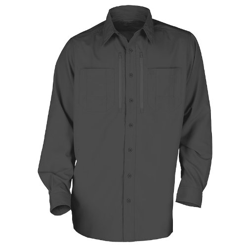 5.11 Traverse Casual Mens Light Shirt Tactical Security Patrol Long Sleeve Black