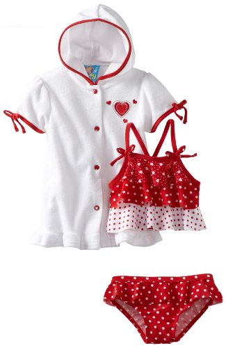 Baby Bunz-Girls Infant Hearts N Dots, Red/White, 12 Months