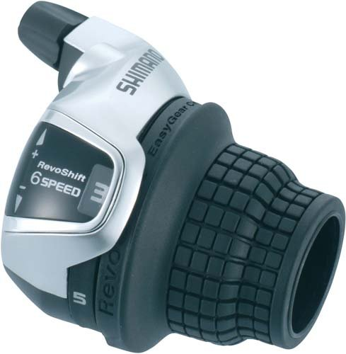 Shimano Tourney Revoshifter 6 Speed Right Hand Gear Shifter - Black trapezoidal metric hss right hand tap tr20 x 4mm pitch