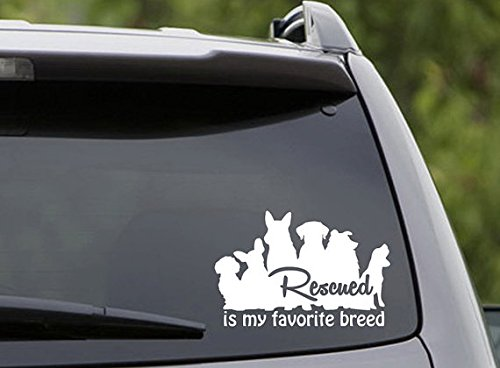 rescued-is-my-favorite-breed-6-white-vinyl-car-wall-decal-rescues-adopt-paws-animals-awesome-fun-coo