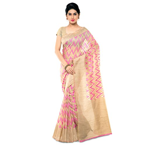 Varkala Silk Sarees Woven Net Khadi Silk Saree-Pink-TD1052RN  available at amazon for Rs.2550