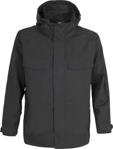 Mens TRESPASS BARTON Waterproof (5000mm) Rain Jacket Coat BLACK Sizes M-XL