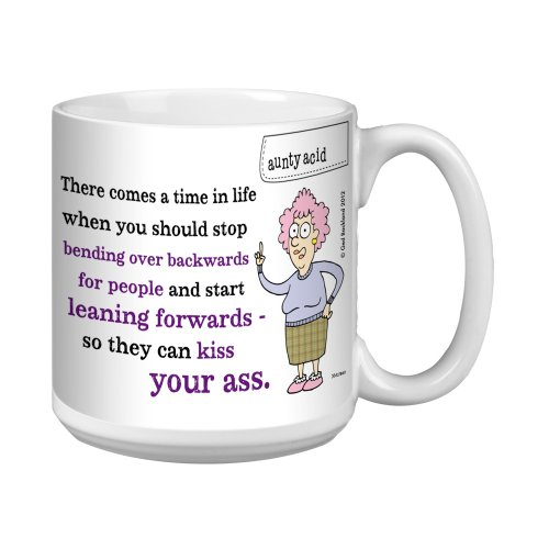 Tree-Free Greetings Xm27860 Aunty Acid Artful Jumbo Mug, 20-Ounce, Leaning Forwards