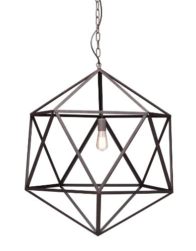 Zuo Modern 98242 Amethyst Ceiling Lamp, Large, Rust
