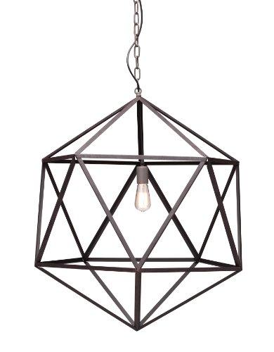 B00AYQFLT0 Zuo Modern 98242 Amethyst Ceiling Lamp, Large, Rust