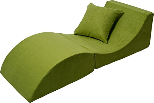 poltrona di rilassamento: divano, pouf, pieghevole, tavolo (colore: verde)