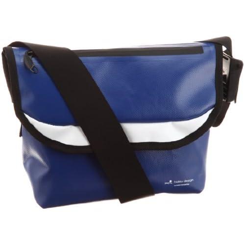 [ヒデオワカマツ] HIDEO WAKAMATSU ターポリン製コンパクトメッセンジャーバッグ  85-75312 ブルー (ブルー)