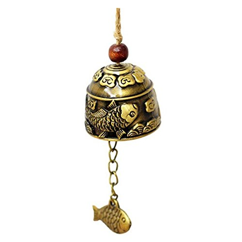 Chinese Traditional Wind Chime - SODIAL(R)1Pc Chinese Traditional Dragon or Fish Feng Shui Bell Blessing Fortune Hanging Wind Chime (Chinese Fish compare prices)