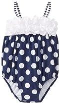 Kate Mack Baby-Girls Monte Carlo Infant Swim Bubble, Navy Blue, 12 Months