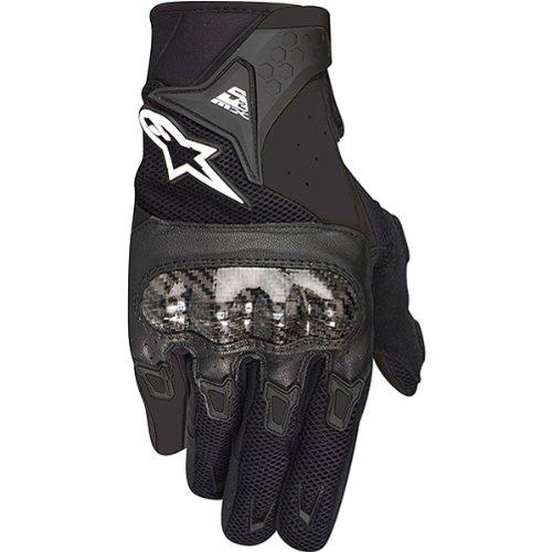 Alpinestars SMX-2 Air Carbon Men's Leather Street Motorcycle Gloves - Black / Medium