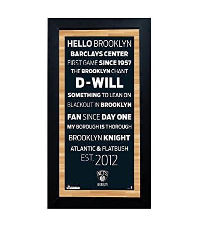Steiner Sports Memorabilia Framed Brooklyn Nets Subway Sign