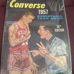 Buy 1957-58 Boston Celtics Signed Converse Basketball Year Book - Autographed Basketballs by Sports Memorabilia