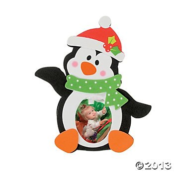 Penguin Photo Frame Magnet Holiday Craft Kit (12 per Kit)/Holiday/Ornament/Gift/Christmas (Photo Frame Craft compare prices)