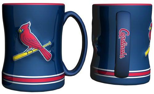 St. Louis Cardinals Coffee Mug - 15Oz Sculpted, Blue