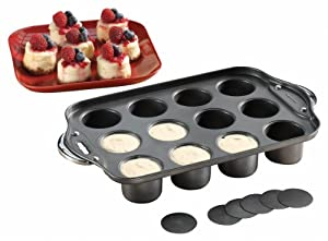 Non-stick Mini Cheesecake Pan - Makes 12 Individual Mini Cheesecakes!
