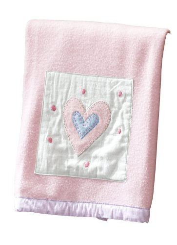 Sumersault Fun Faces Blanket - Pink